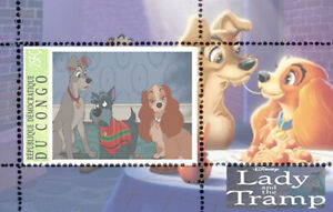DISNEY -  Lady and the Tramp    6 sheets  private issue LIMITED EDITION!!