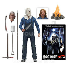 """7"""" ULTIMATE JASON VOORHEES figure FRIDAY THE 13TH sack head PART 2 II mask NECA"""