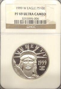 NGC PF69 Ultra Cameo 1999 W Eagle, $100 Platinum Coin.! GEM Proof.!