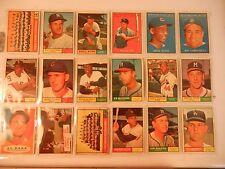 1961 61 TOPPS Baseball Near starter Set lot of 425 cards  Collection