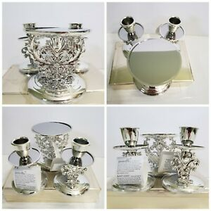 NEW CELEBRATE IT Candle Holder set holds 1 pillar & 2 taper candles NIB