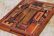 Collage Holzbuchstaben Unikat Bild Holzlettern Letternbild Wandbild vintage alt