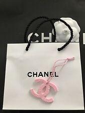 NIB CHANEL Beauty VIP Gift Large Pink CC Lipstick Camellia Logo Charm New RARE