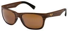 Maui Jim Kahi Sunglasses H736-25W Matte Brown Wood Grain | HCL Bronze Polarized
