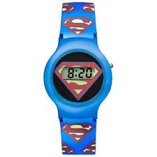Warner Bros reloj sm-01 Superman kinderuhr jóvenes reloj Boys watch azul nuevo & OVP