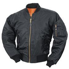 Petit Noir ma1 pilote de vol de combat Armée Sécurité portier bouncer veste manteau