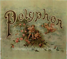 Polyphon large Cover Lid Picture for antique Music Box with cherubs angles roses