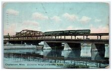 1909 Charlestown Bridge and Elevated Railway, Charlestown, Ma Postcard
