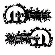 2 Black Mopar Decals Sticker dodge jeep ram 1500 2500 4x4 hemi 4x4 3500