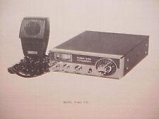 1977 PEARCE-SIMPSON CB RADIO SERVICE SHOP MANUAL MODEL PUMA 23C