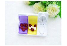 Pill Cutter Tablet Splitter Medicine Case Pill Box Portable Pill Box