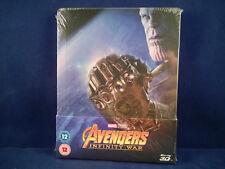 AVENGERS - Infinity War 3D - Steelbook - Bluray - VF NL - Neuf - Titre Tranche