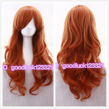 Nami ONE PIECE Long 60cm Orange Curly Cosplay Hair wig Women's Wigs +a wig cap