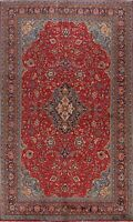 Vintage Hand-knotted Floral Mahal Area Rug Classic Oriental Wool 8x12 RED Carpet