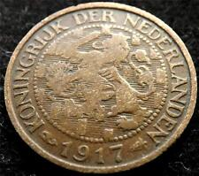 1917 NETHERLANDS 1 CENT COIN
