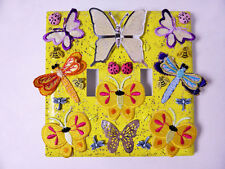 Butterflies & Dragonflies Dual Toggle Light SWITCHPLATE - Yellow