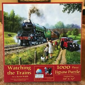 Watching the Trains 1000 Piece Jigsaw Puzzle by SunsOut