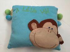 A Little Wild Monkey Decorative Pillow Pom Pom Balls Boy Girl Bedroom Retro