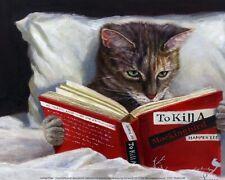 Late Night Thriller Lucia Heffernan Cat Art Print 10x8