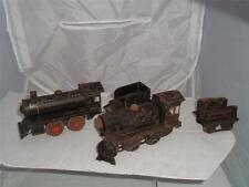 FANDOR KRAUS 2 TINPLATE TRAINS AND 4 CARRIAGES SOLD AS A RESTORATION PROJECT !!!