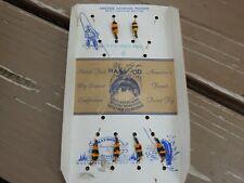 "Vtg Lot of 6 Haywood Flies Fishing Lures ""Western Bee"" Original Card Denver Co"