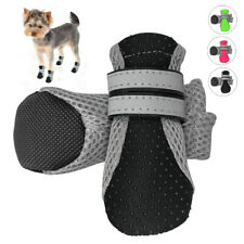 4pc/pack Breathable Dog Boots Waterproof Shoes for Dogs With Reflective Non-Slip
