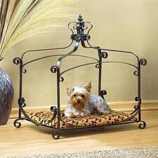 ROYAL SPLENDOR PET BED PAD ANIMALS FURNITURE DOG CAT WROUGHT IRON FRAME VELVET
