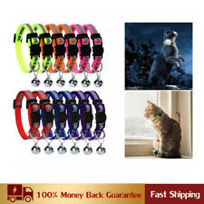12 Pcs Colorful Cat Reflective Collars Breakaway with Bell Safety Quick Release