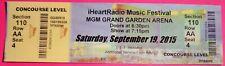 IHEART RADIO MUSIC FESTIVAL ORIG CONCERT USED TICKET, MGM GRAND VEGAS 9/19/2015