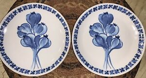 "Williams Sonoma Porto Appetizer Plates Set of 2. Size 6.5"""