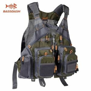 Breathable Fishing Vest Outdoor Sports Fly Swimming Adjustable Vest