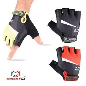 WFX Mens / Women Cycling Gloves Fingerless Gel Padded Gym Best Grip Fitness Pro