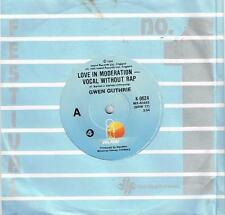 """GWEN GUTHRIE - LOVE IN MODERATION - VOCAL WITHOUT RAP - 7"""" 45 VINYL RECORD 1984"""