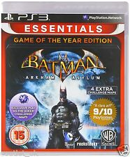 Batman Arkham Asylum Game Of The Año Essentials Juego para Sony PS3 NUEVO