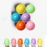Children's Plastic Ice Cream Bowls Spoons Durable Ice Cream Cup Dessert Bowl XI