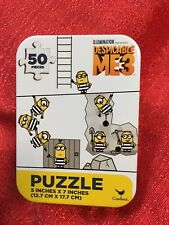 """Despicable Me 3 Minions PUZZLE In COLLECTIBLE TIN 50PC NEW 5x7"""" Travel"""