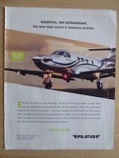 12/2009 PUB PILATUS PC-12 NG AIRCRAFT AVION FLUGZEUG ORIGINAL AD