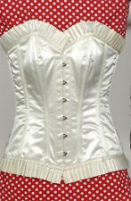 Gorgeous IVORY SATIN Overbust Fashion Corset Size NWT (UK XL)