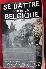 Se battre pour la Belgique