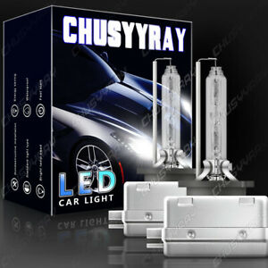 2x D1S D2S D3S D4S 6000K HID Replacement Xenon Headlight Light Bulbs Lamps White