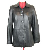 BROOKS BROTHERS Buttery Soft Black Leather 5 Button Jacket Women's Size XS