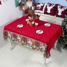 Christmas Pattern Printing Polyester Table Cloth Reusable Tablecloth 150*180cm