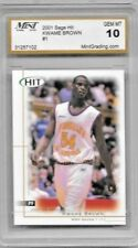 KWAME BROWN ROOKIE 2001 SAGE HIT #1 GEM MINT 10
