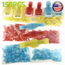 150Pcs 10-22 Gauge Male Female Insulated Wire Terminal Spade Crimp Connector Set