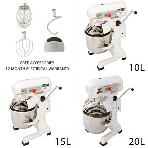 Commercial Food Mixer Planetary Dough Cake Bakery Electric Baking Spiral Stand