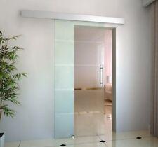 Glasschiebetür Schiebetür Tür Zimmertür Glas 4 Streifen satiniert 2050x1025x8 mm