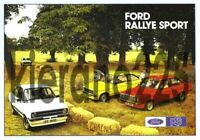 FORD Escort RALLY SPORT RS MEXICO RS 1800 2000 A3 Poster Sales Brochure