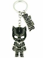 Black Panther Chibi Silvertone Movie/Comics Charm Pendant Key Chain