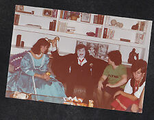 Vintage Photograph People in Costumes on Couch - Dracula - Halloween