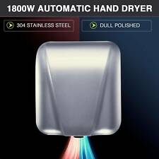 High Speed Electric Hand Dryer 1800W for Commercial Home Bathroom Touchless